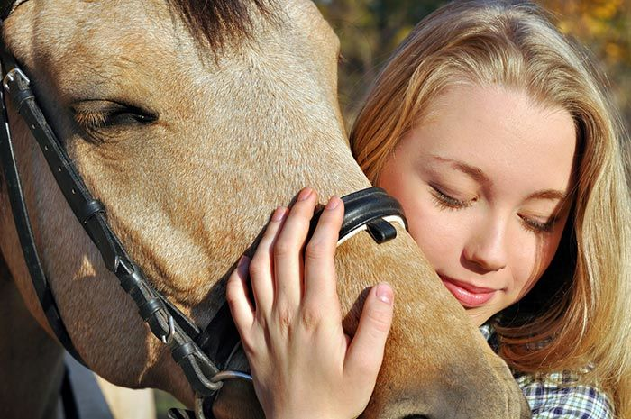 equine therapy at Columbus girls academy
